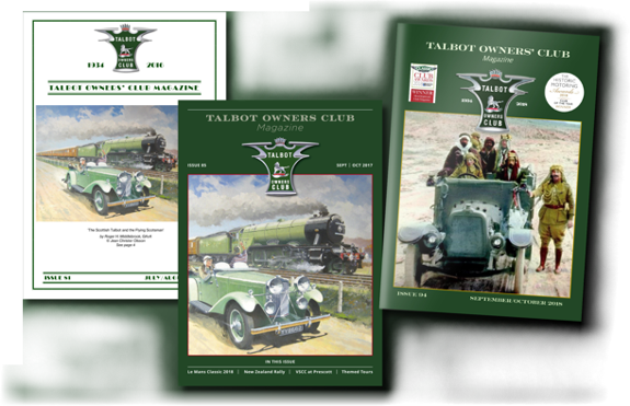 Talbot Owners Club Magazines