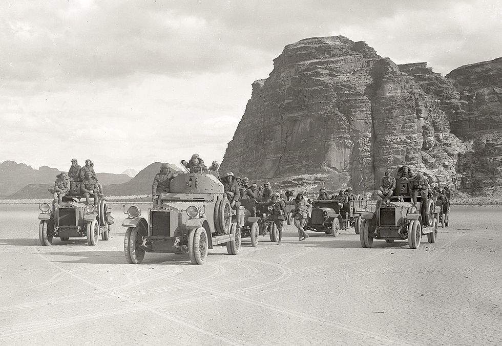 T E Lawrence Arab Revolt Talbot Tender Rolls Armoured Car