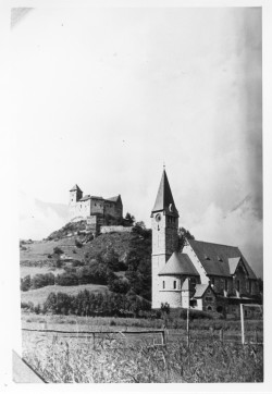 Swiss church and castle
