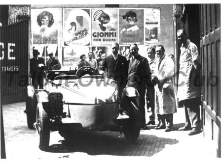 GO51 Team Car '32 Mille Miglia; L to R : Lewis, Fox, 'Dunlop Mac', Barnard, Wilcockson