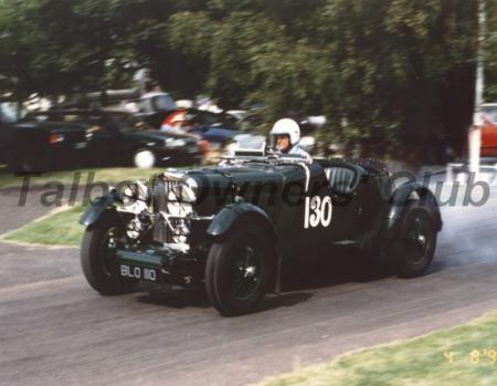 Rivers leaving smoke off the start line with BLO110 during VSCC Prescott.