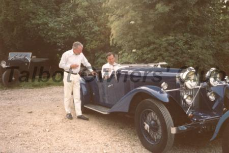 Rivers with Mike Crouch and his 105 Talbot AXW698, 105 Coupe des Alpes (ex-James Fack/John Ruston).
